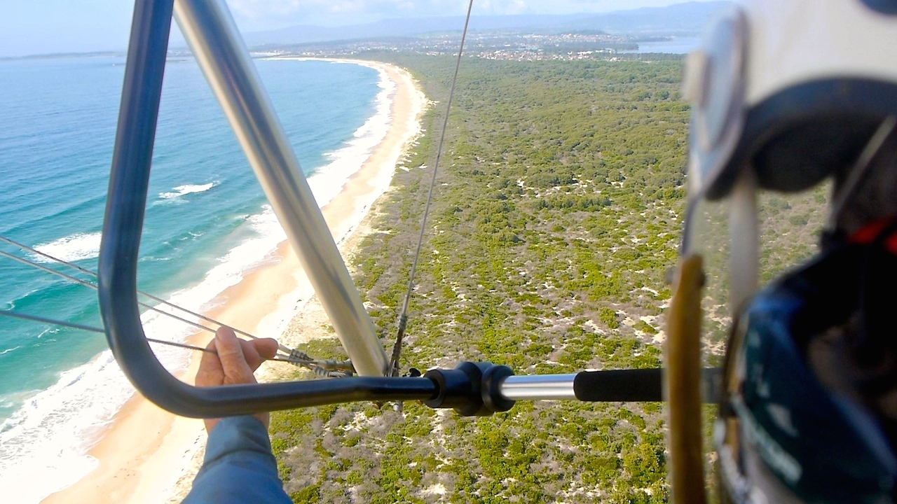 Microlight flying in Australia