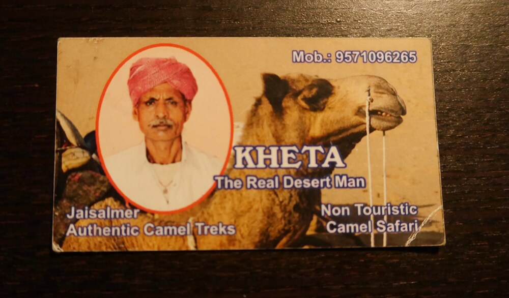 theta the real desert man, camel safari in jaisalmer