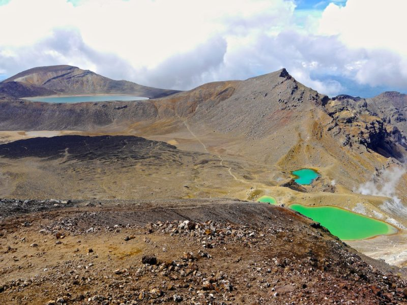 Tongariro Crossing, emerald lakes, new zealand travel guide