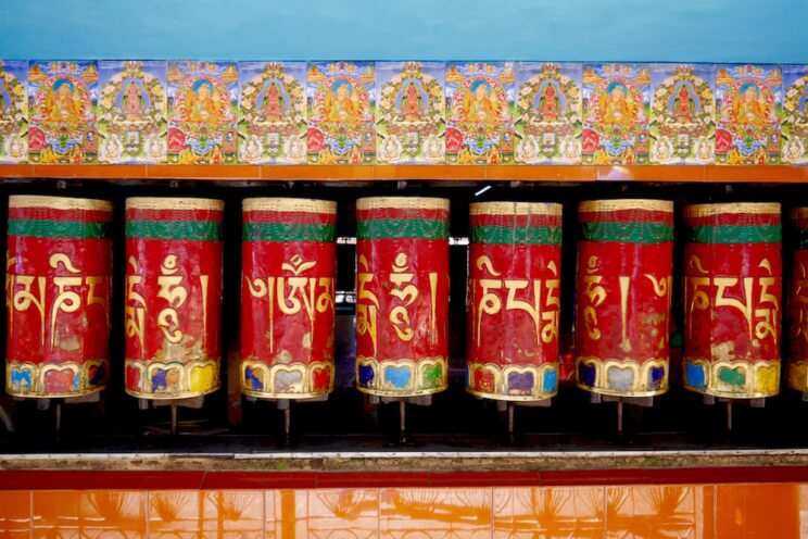 Prayer Wheels at Kalachakra Temple, McLeod Ganj, Dharamsala, India