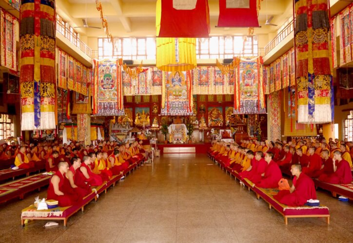 Puja at Guyto Monastery, Dharamsala, India