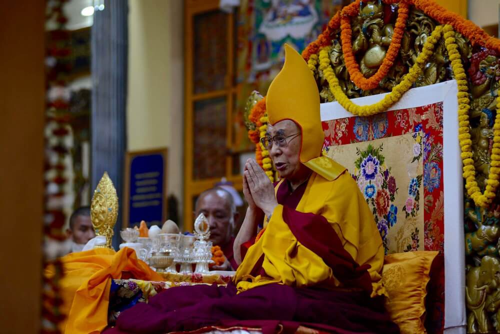 Dalai Lama at Tsuglakhang Temple in McLeod Ganj, India, on 3 November 2015.